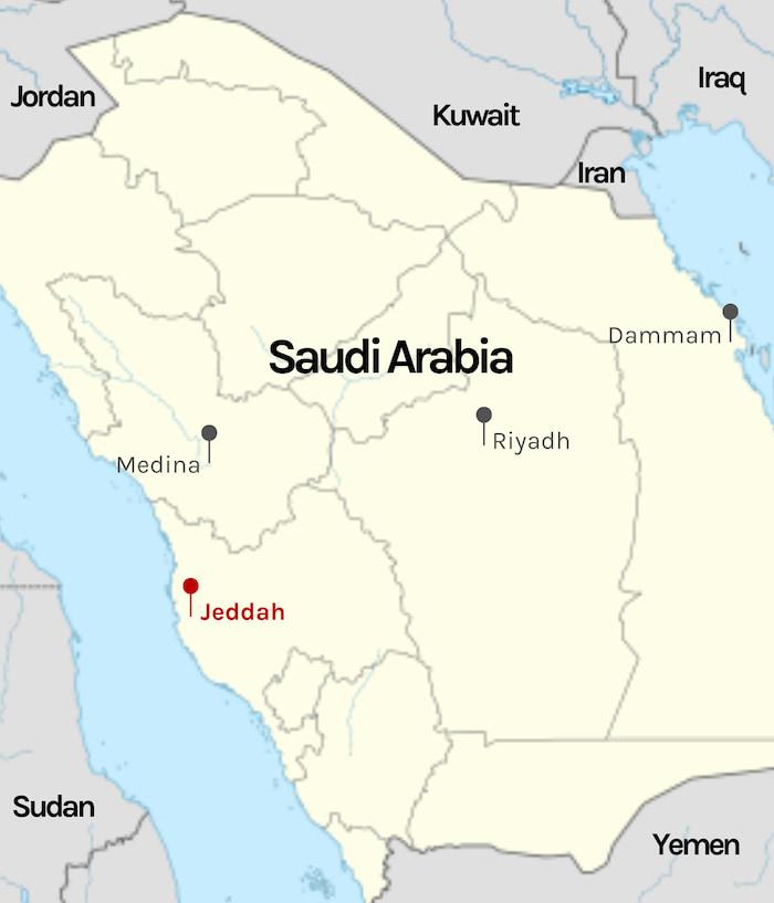 Riyadh on map of saudi arabia