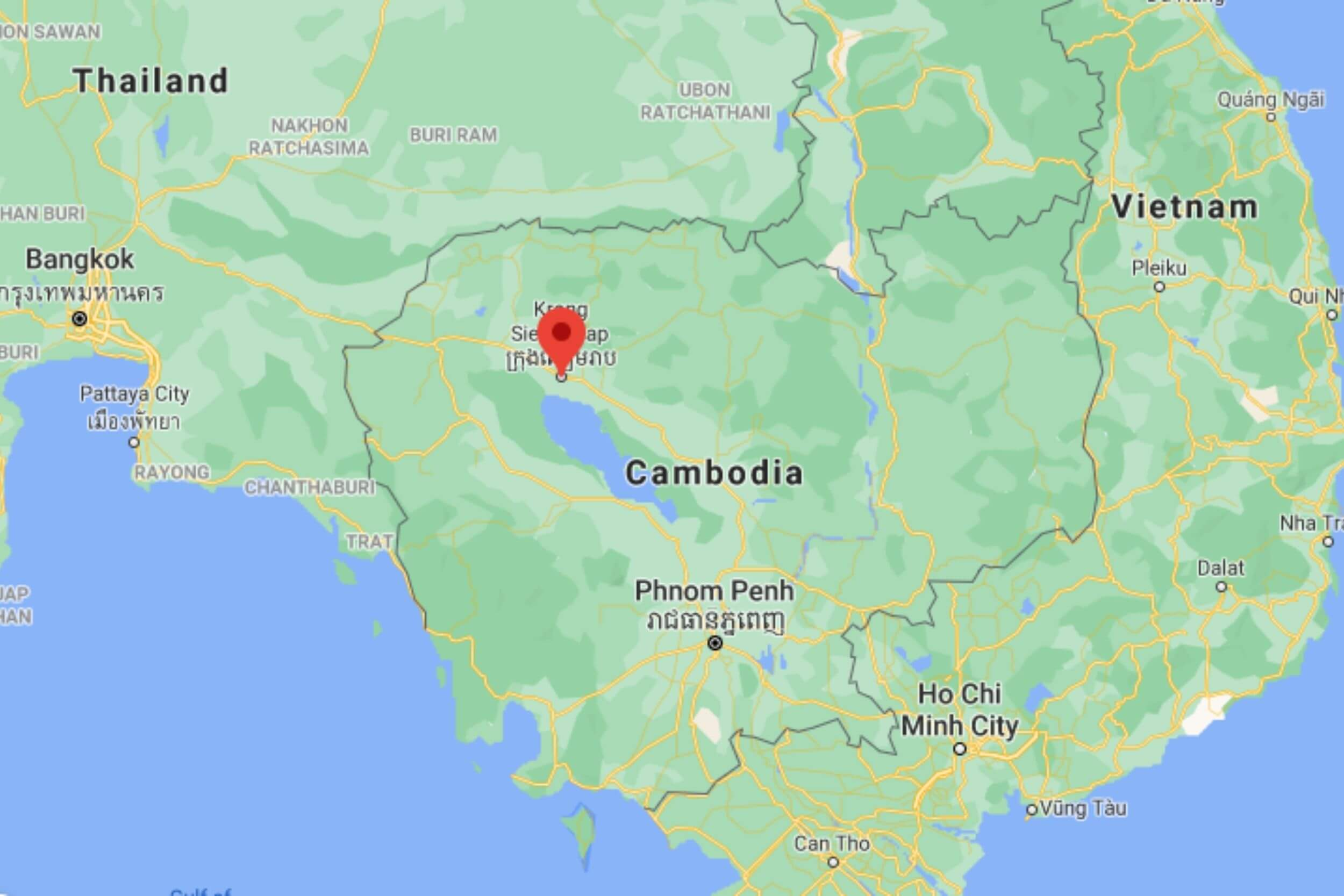 Siem Reap on map
